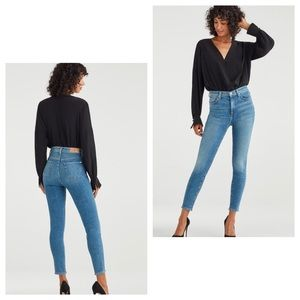 7 for all Mankind Luxe Vintage High Waist Jeans 27